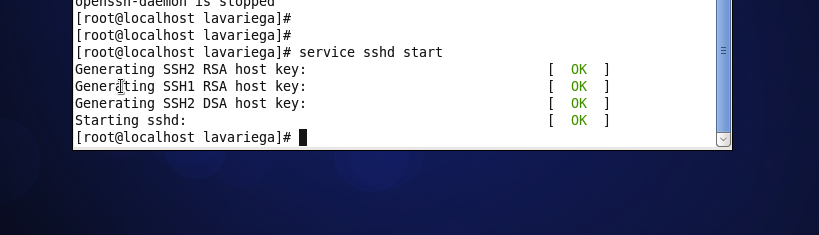 ssh start