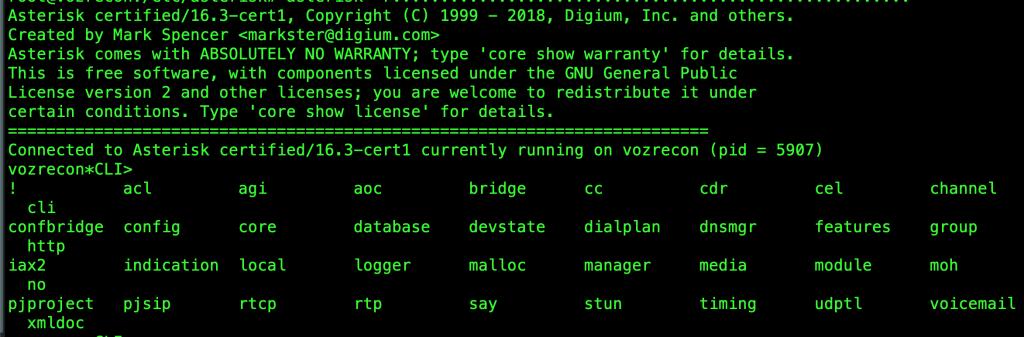 Asterisk-CLI-Lavariega-comandos Asterisk CLI