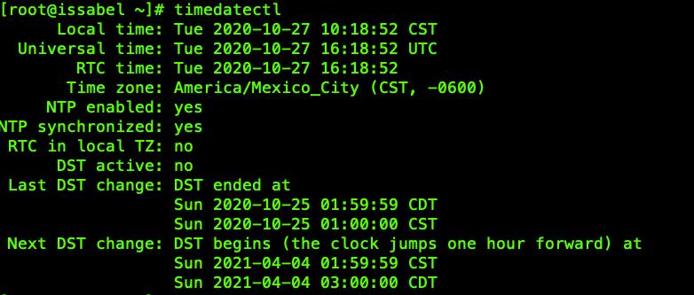 Linux-zona-horaria-hora-servidor-configurar