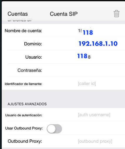 Softphone zoiper en IOS